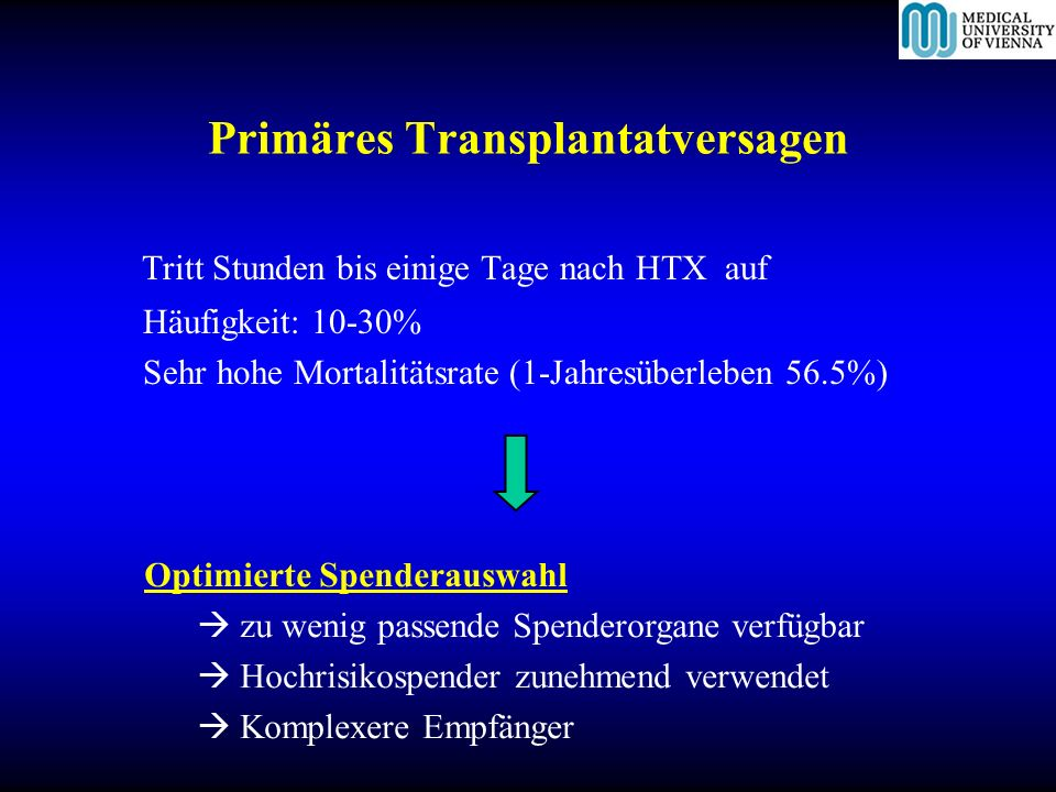 Primäres Transplantatversagen