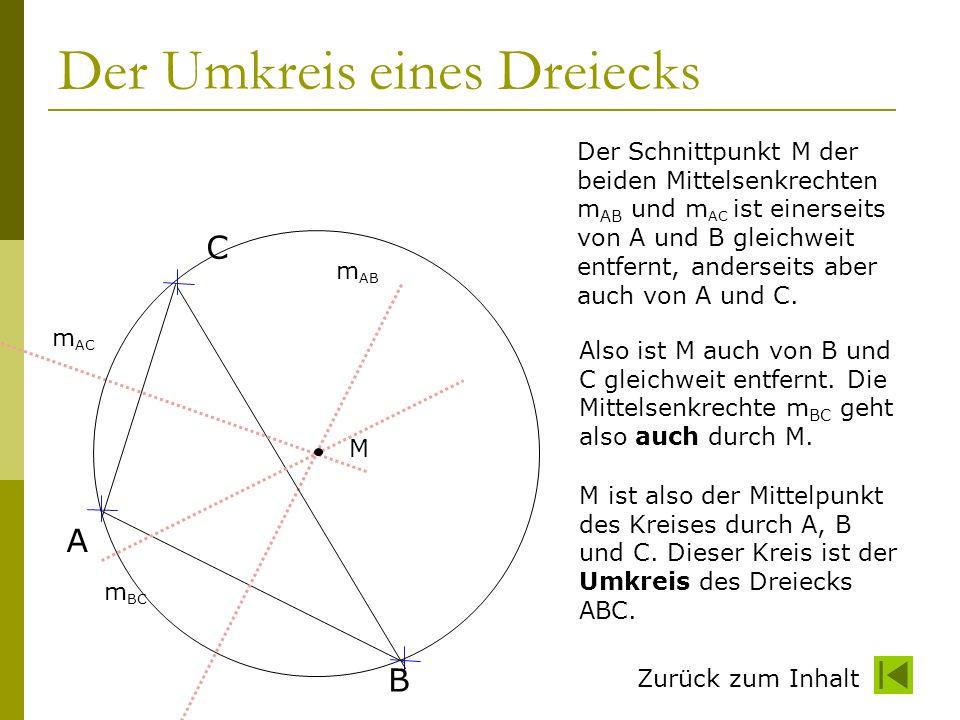 Der Umkreis eines Dreiecks
