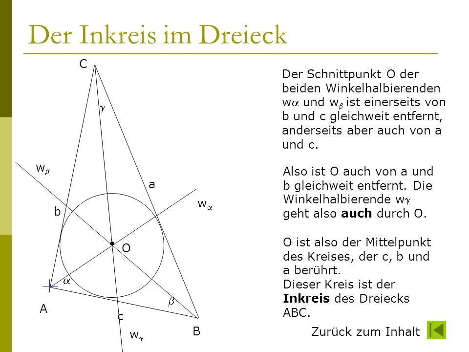 Der Inkreis im Dreieck C