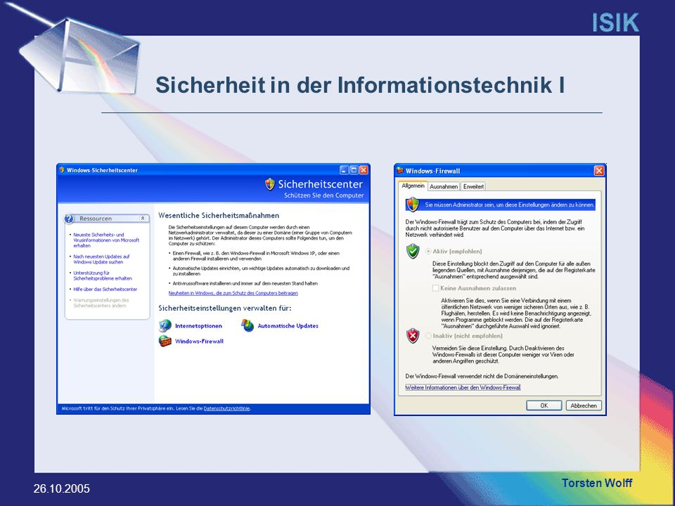 Sicherheit in der Informationstechnik I