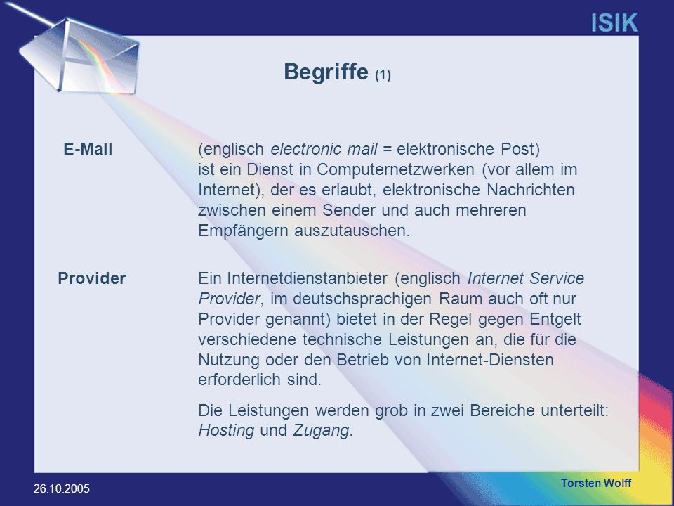 Begriffe (1) E-Mail.