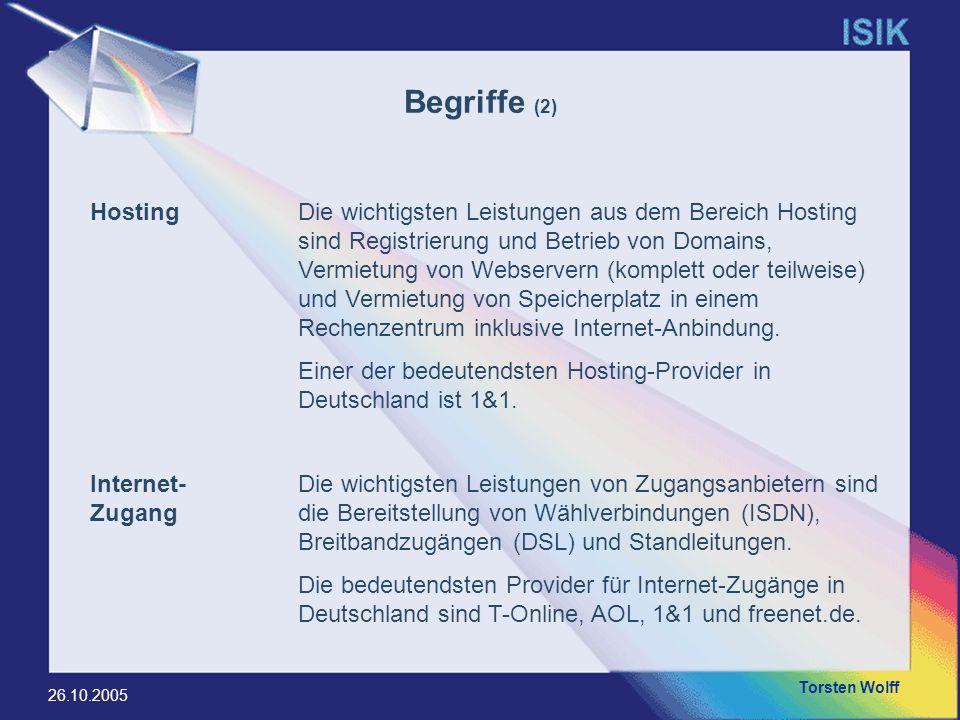 Begriffe (2) Hosting.