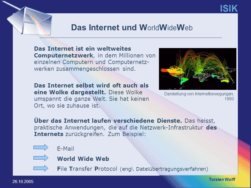 Das Internet und WorldWideWeb