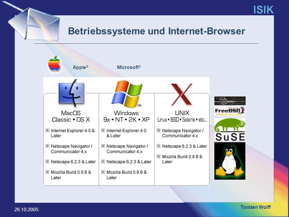 Betriebssysteme und Internet-Browser