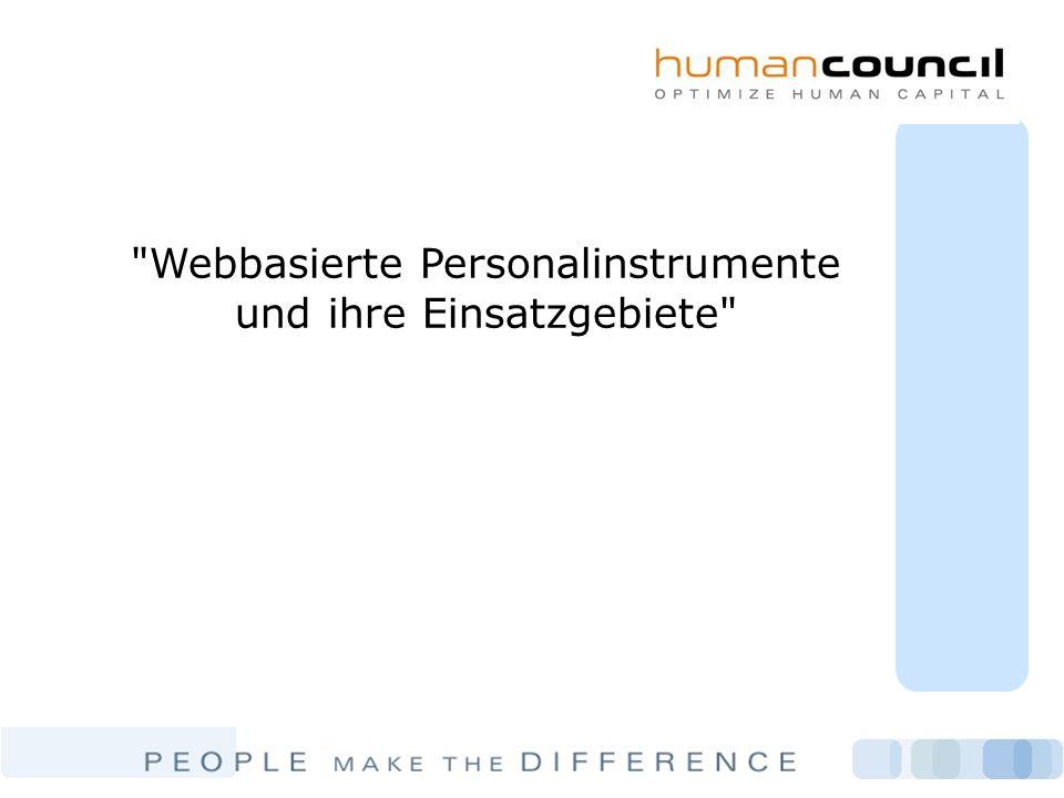 Webbasierte Personalinstrumente und ihre Einsatzgebiete