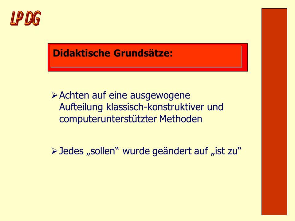 LP DG Didaktische Grundsätze: