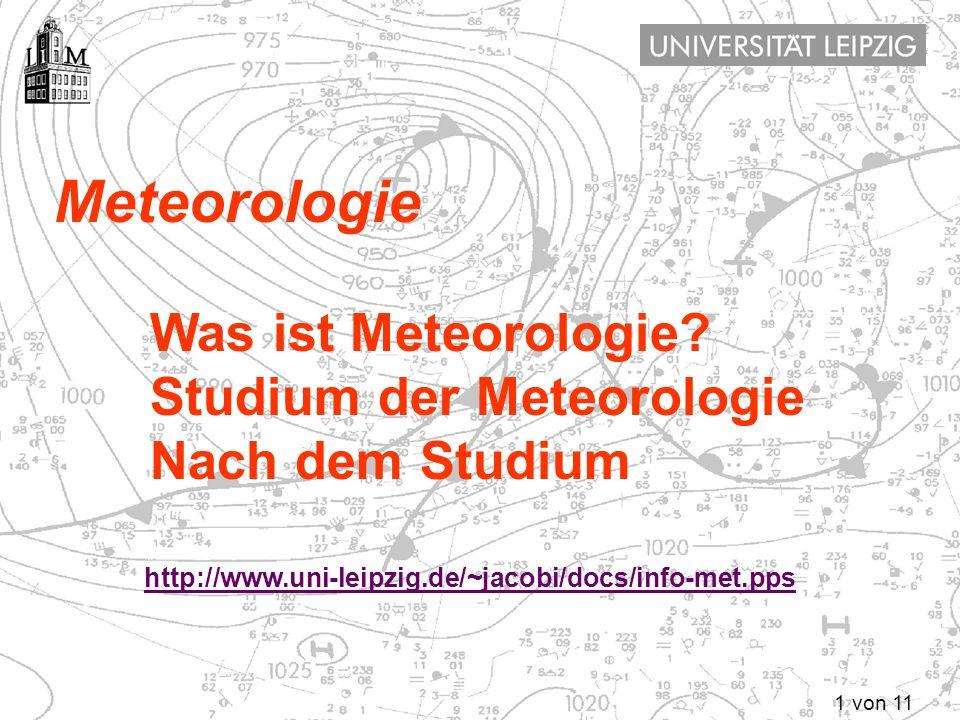 Meteorologie Was ist Meteorologie Studium der Meteorologie