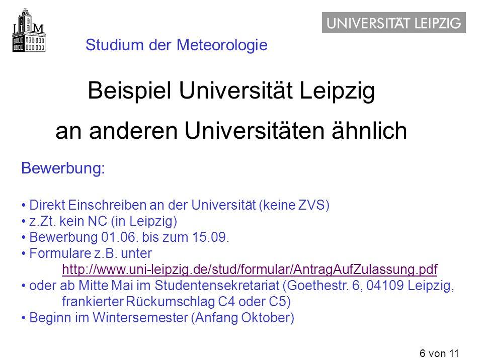 Beispiel Universität Leipzig an anderen Universitäten ähnlich