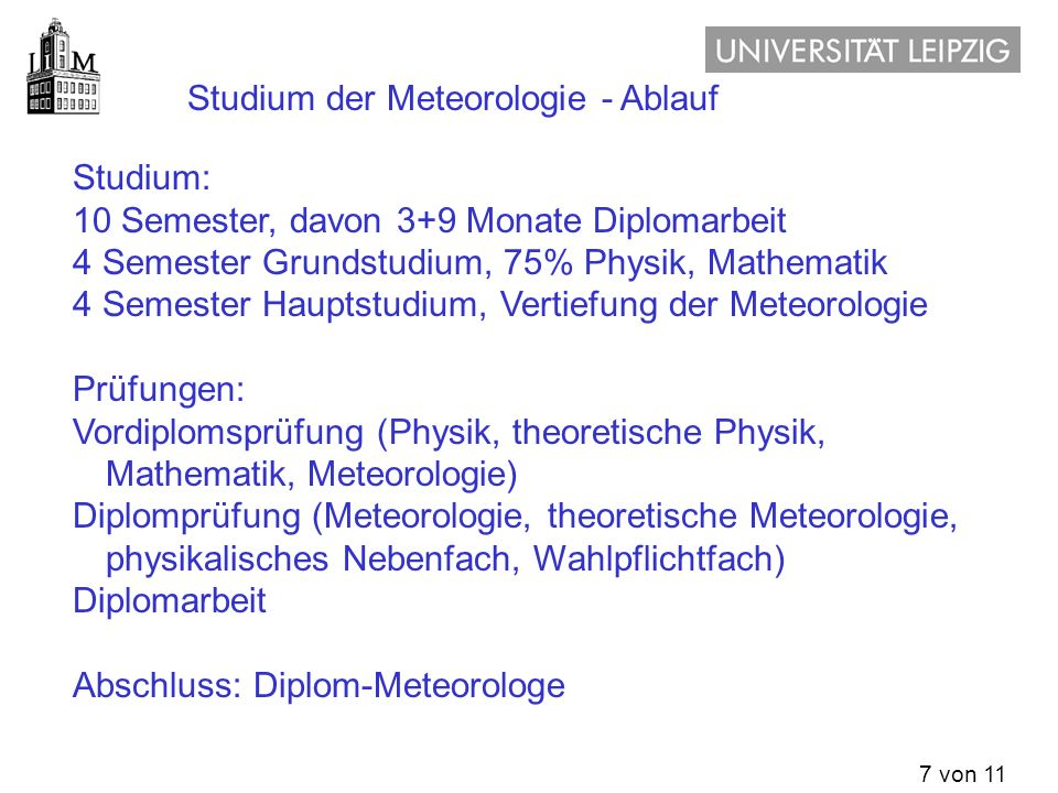 Meteorologie was ist meteorologie studium der for Physik studium nc