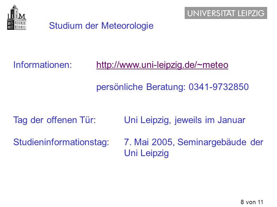 Studium der Meteorologie