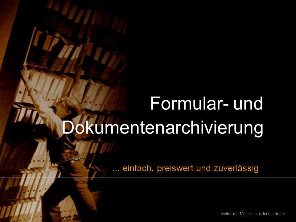 Formular- und Dokumentenarchivierung