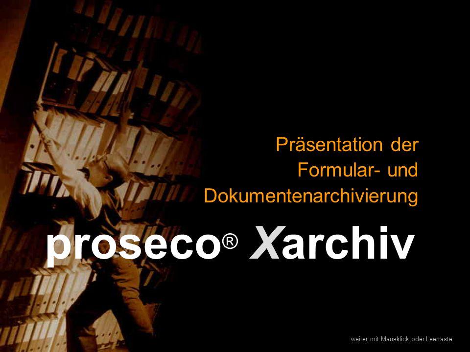 Präsentation der Formular- und Dokumentenarchivierung
