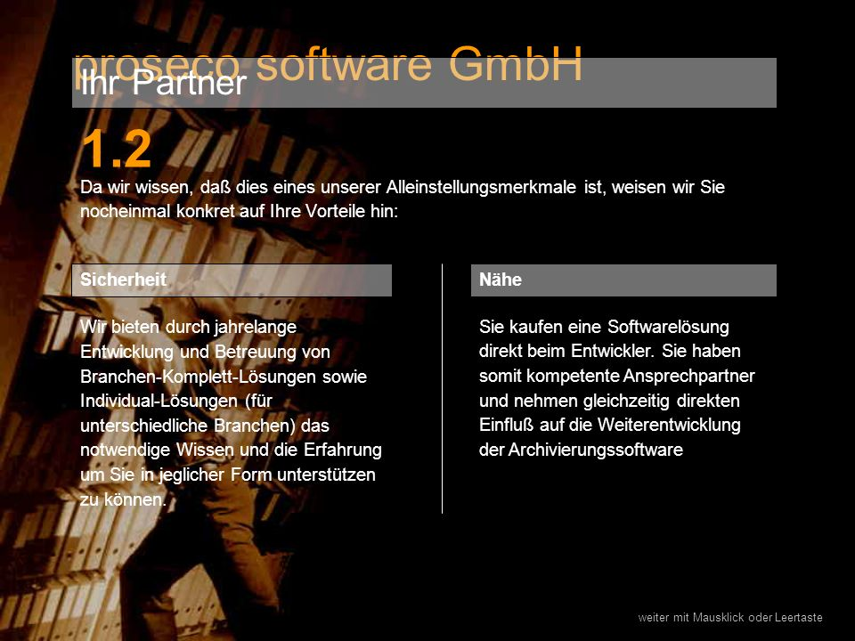 1.2 proseco software GmbH Ihr Partner