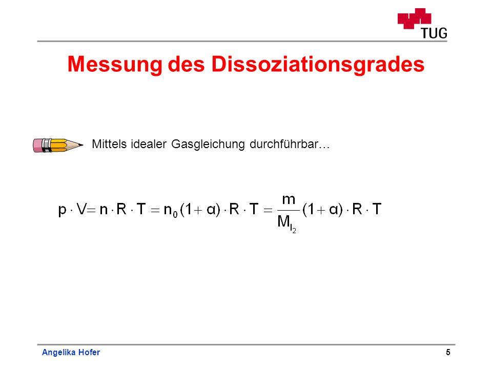 Messung des Dissoziationsgrades