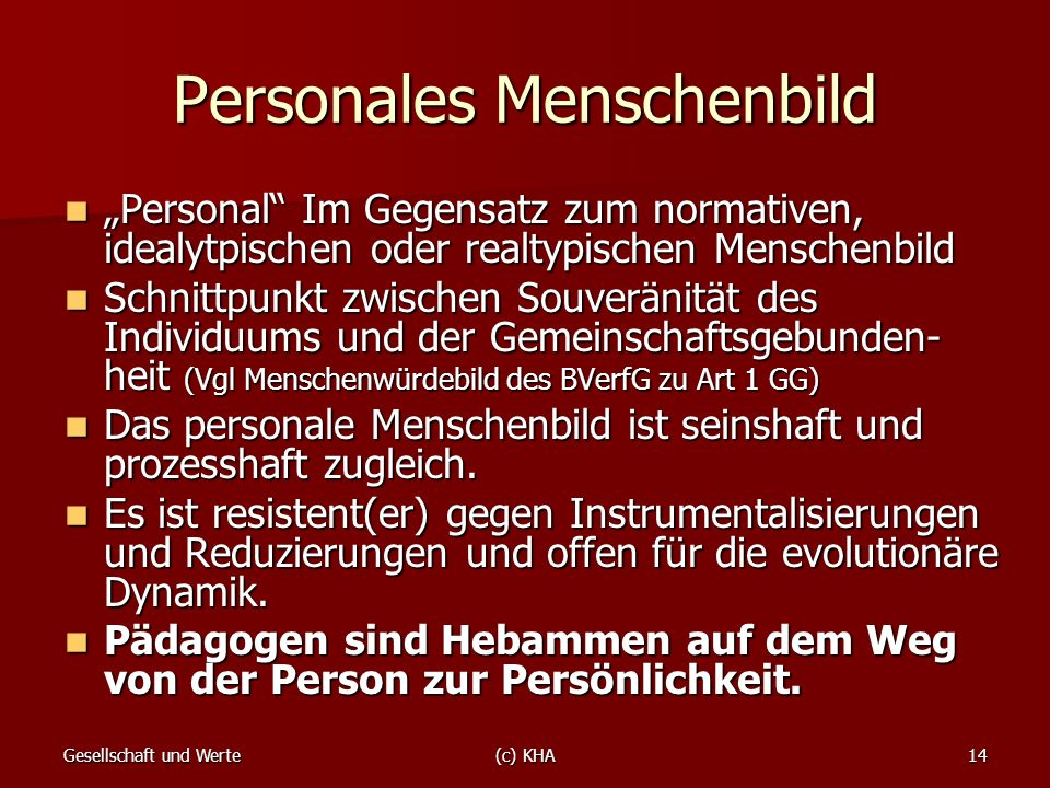 Personales Menschenbild