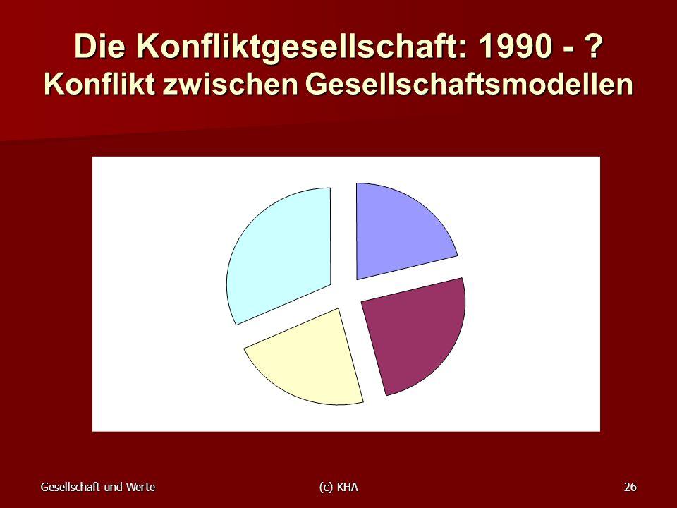 Die Konfliktgesellschaft: 1990 -