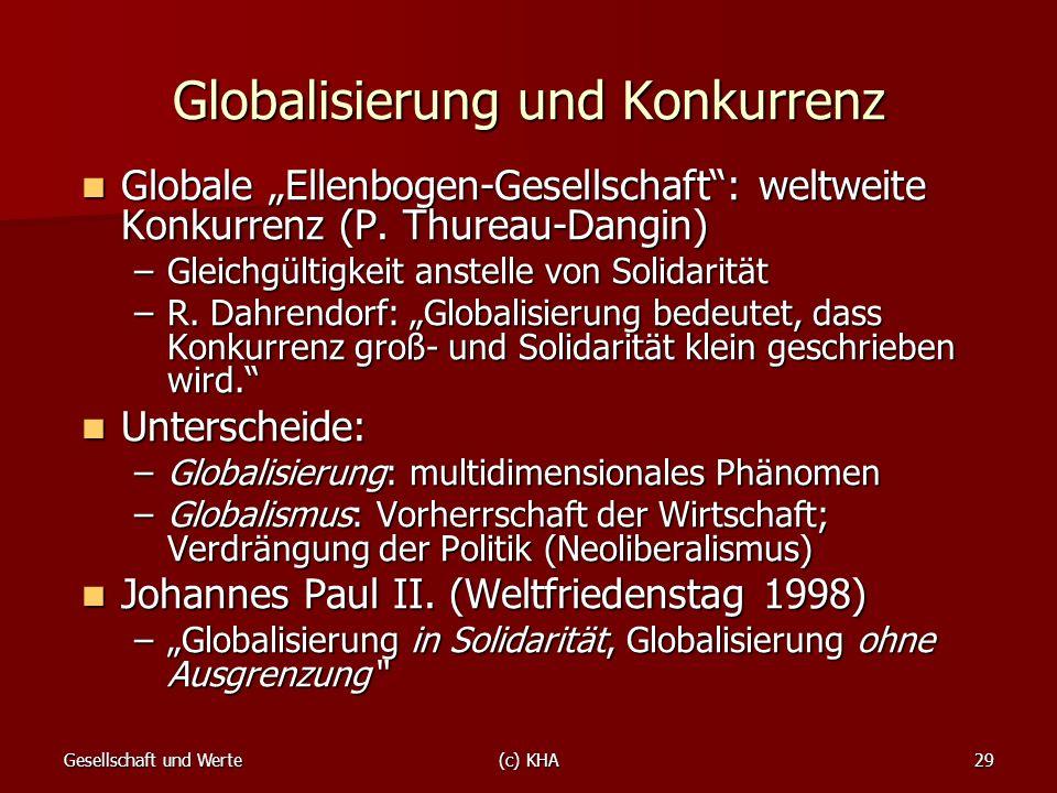 Globalisierung und Konkurrenz