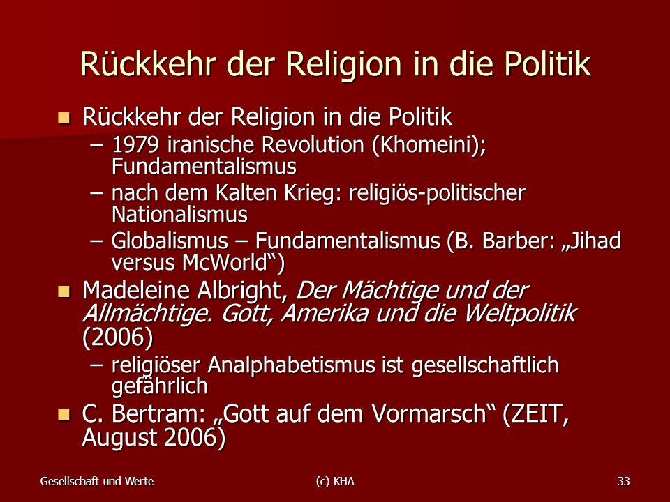 Rückkehr der Religion in die Politik