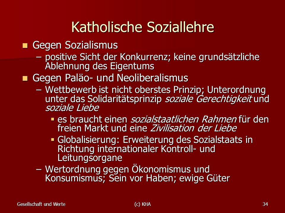 Katholische Soziallehre
