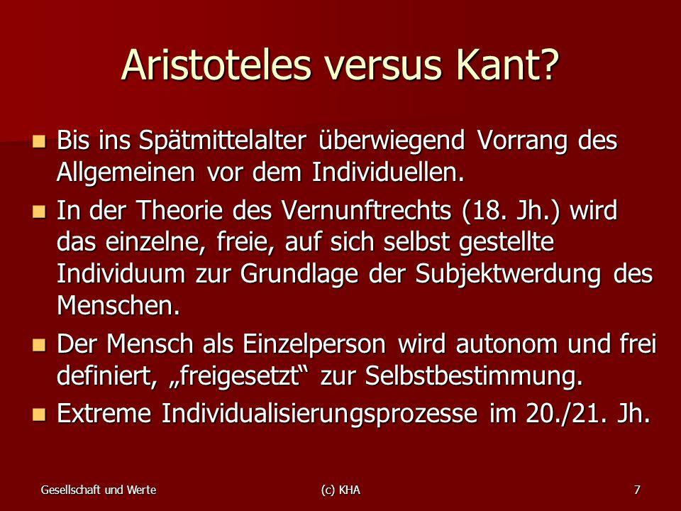 Aristoteles versus Kant