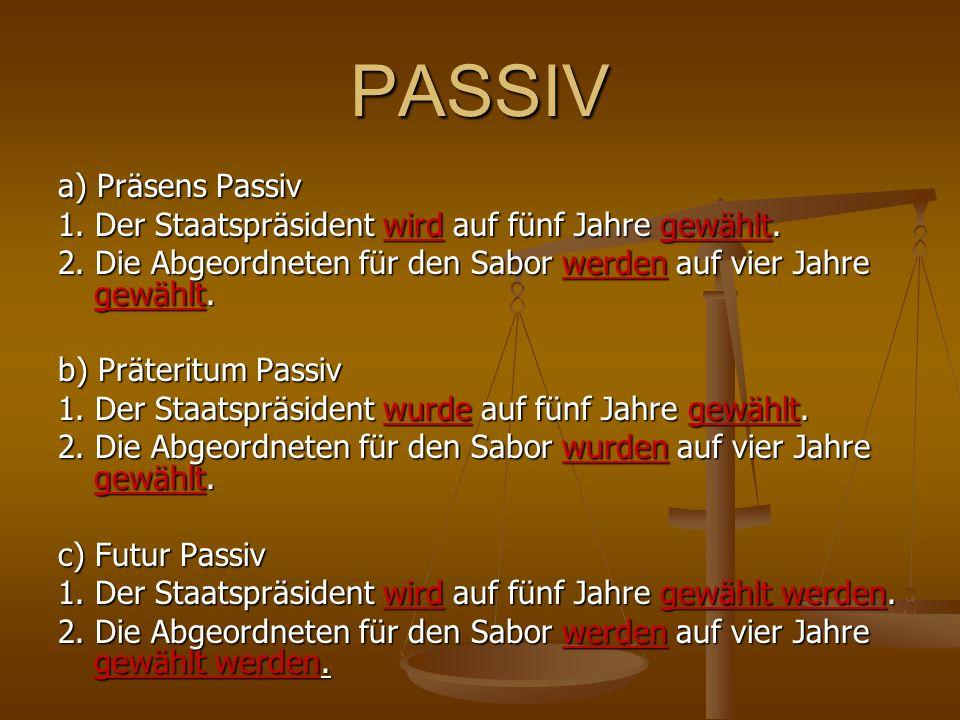 PASSIV a) Präsens Passiv