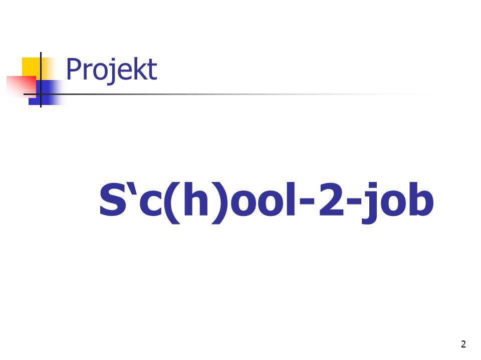 Projekt S'c(h)ool-2-job