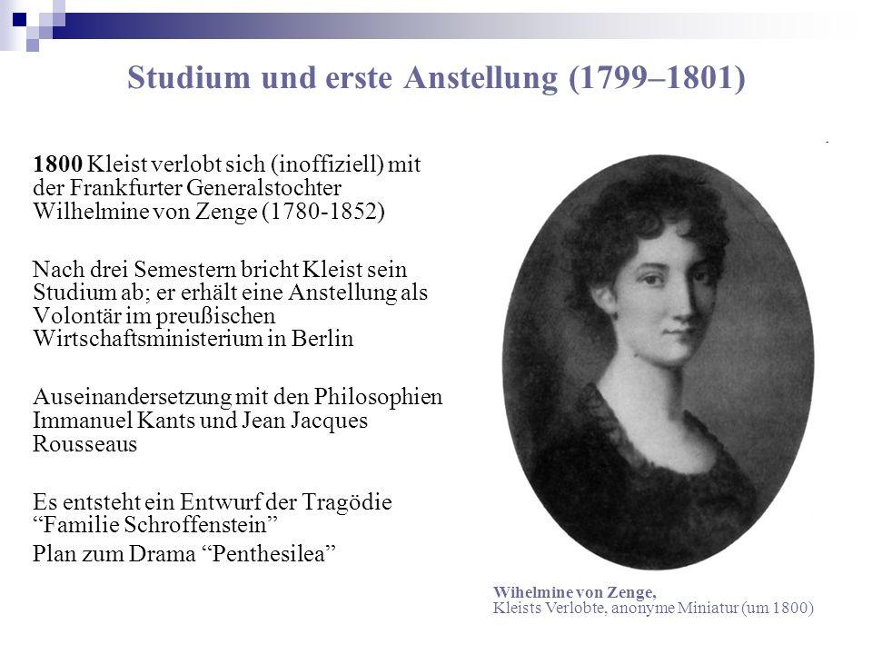 Studium und erste Anstellung (1799–1801)