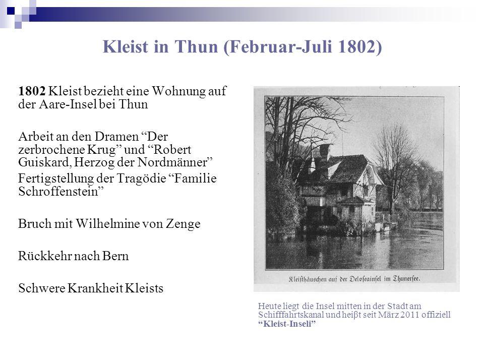 Kleist in Thun (Februar-Juli 1802)