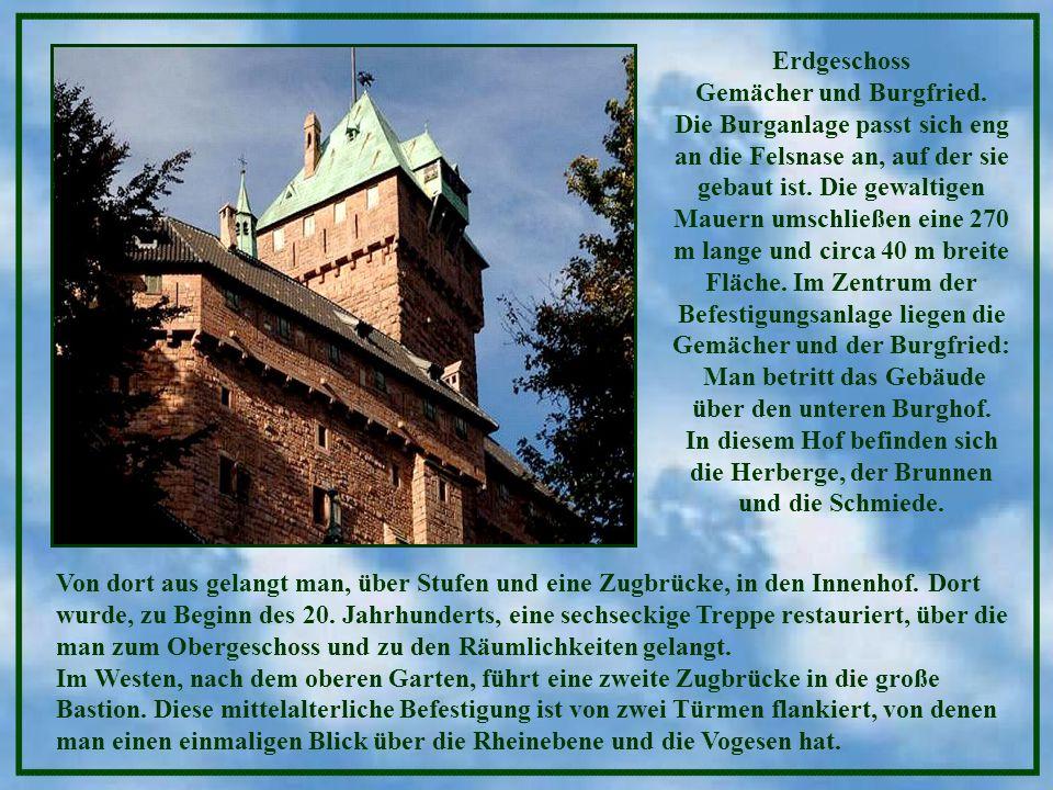 Gemächer und Burgfried.
