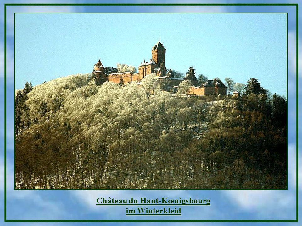 Château du Haut-Kœnigsbourg im Winterkleid