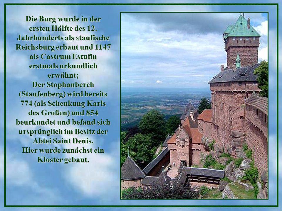 Die Burg wurde in der ersten Hälfte des 12