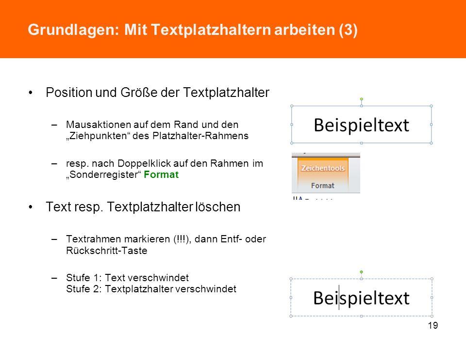 Grundlagen: Mit Textplatzhaltern arbeiten (3)