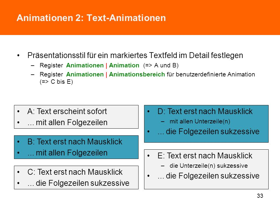 Animationen 2: Text-Animationen