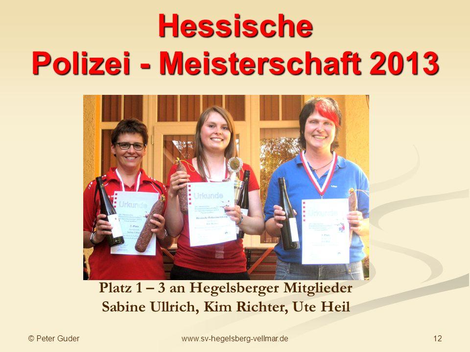 Hessische Polizei - Meisterschaft 2013