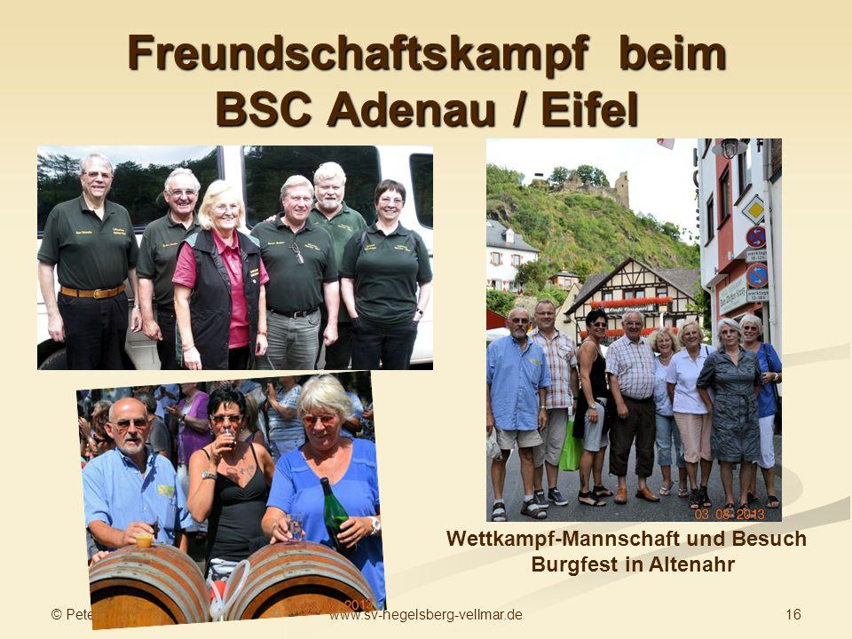 Freundschaftskampf beim BSC Adenau / Eifel