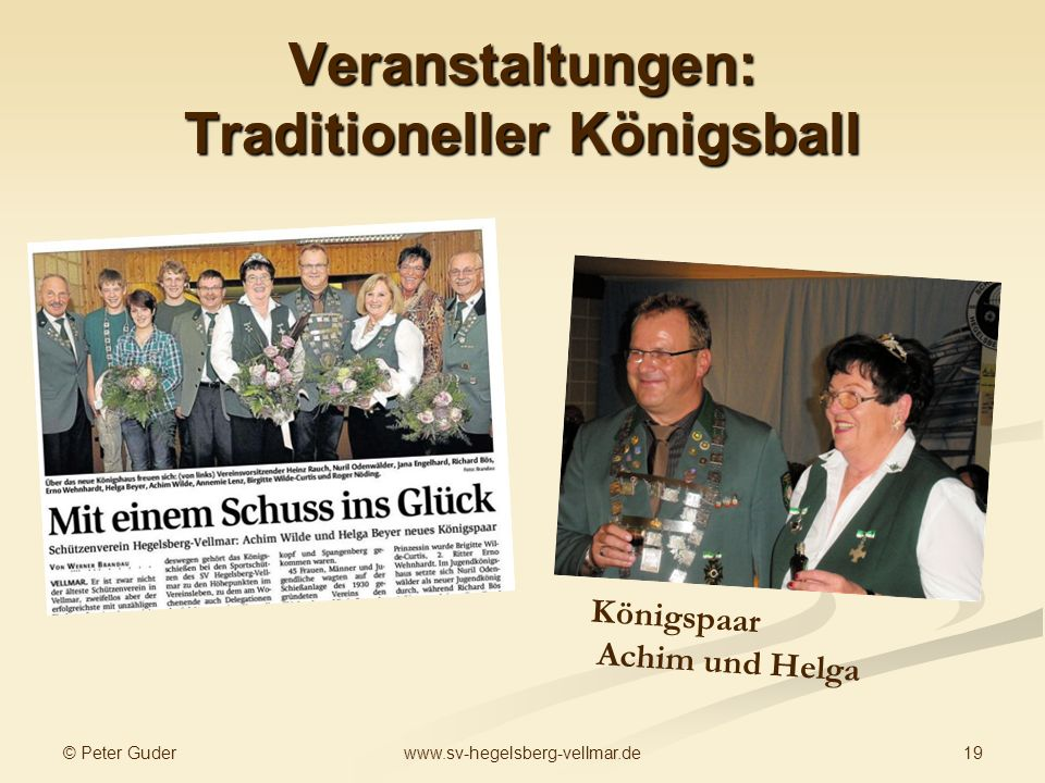 Veranstaltungen: Traditioneller Königsball