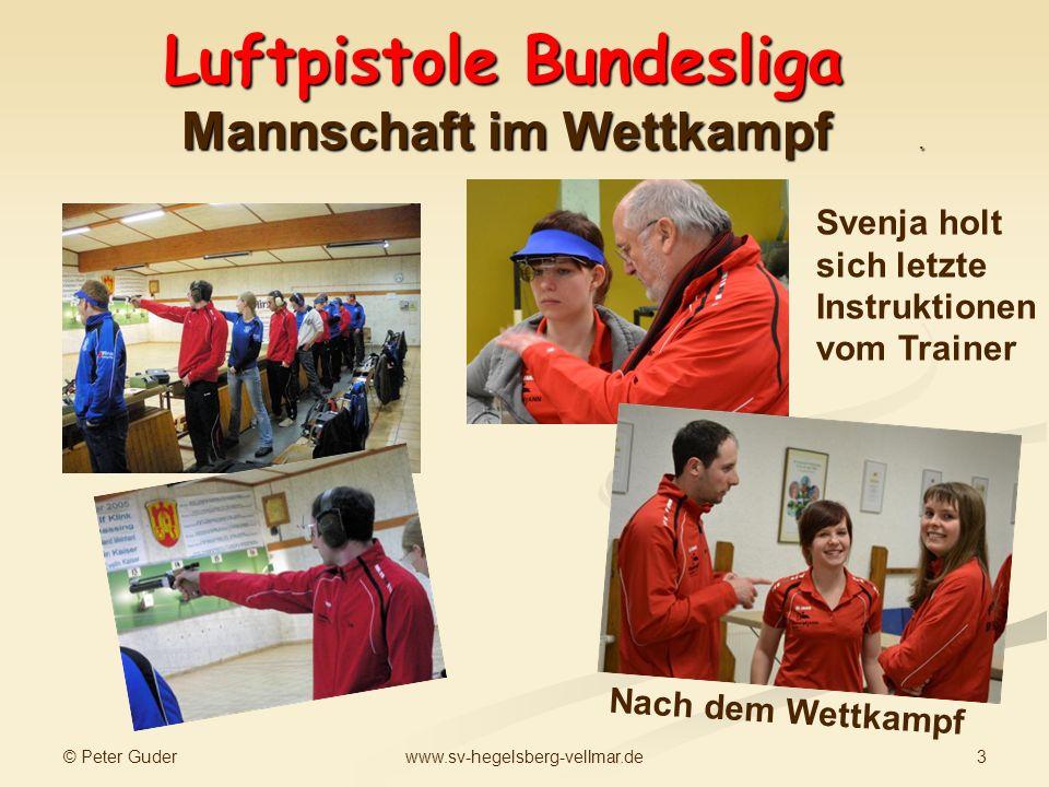 Luftpistole Bundesliga Mannschaft im Wettkampf .