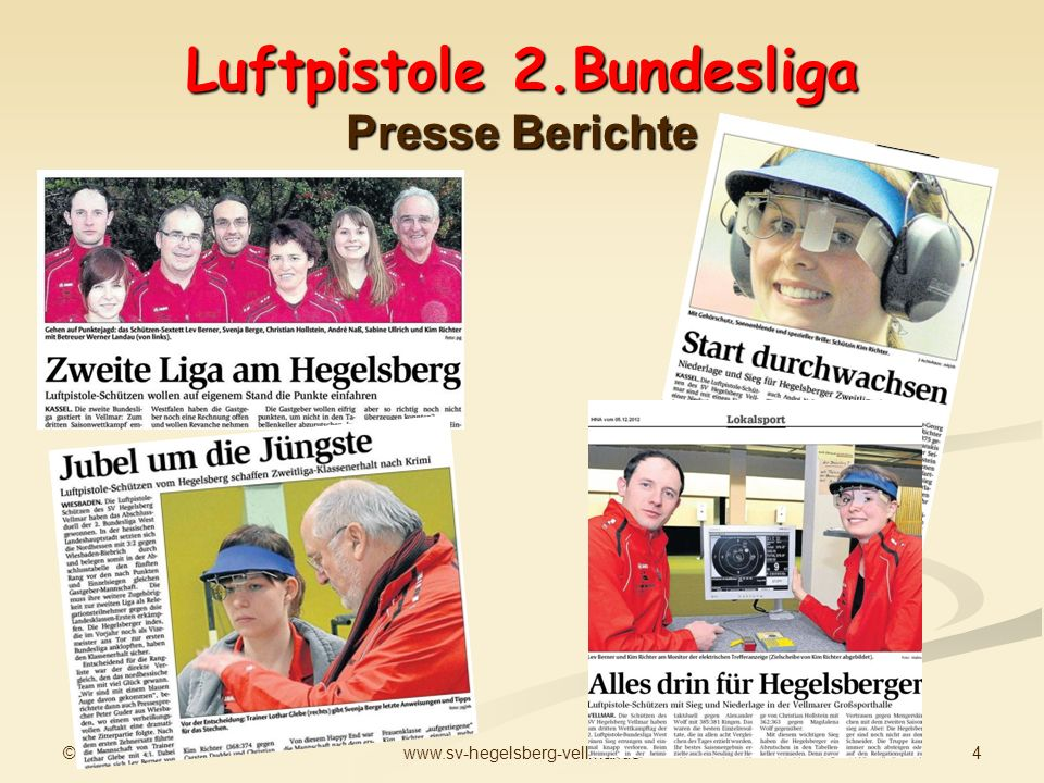 Luftpistole 2.Bundesliga Presse Berichte