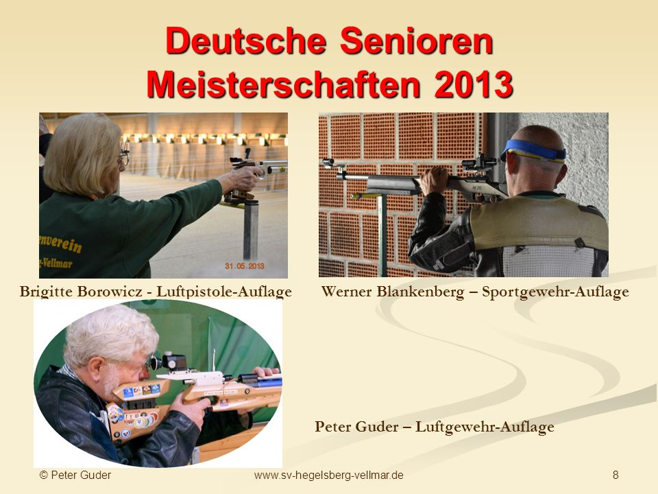 Deutsche Senioren Meisterschaften 2013