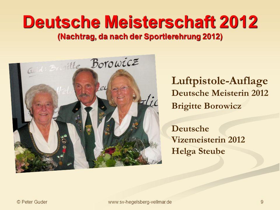 Deutsche Meisterschaft 2012 (Nachtrag, da nach der Sportlerehrung 2012)