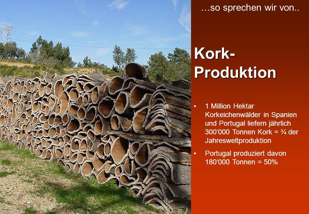 Kork-Produktion …so sprechen wir von..