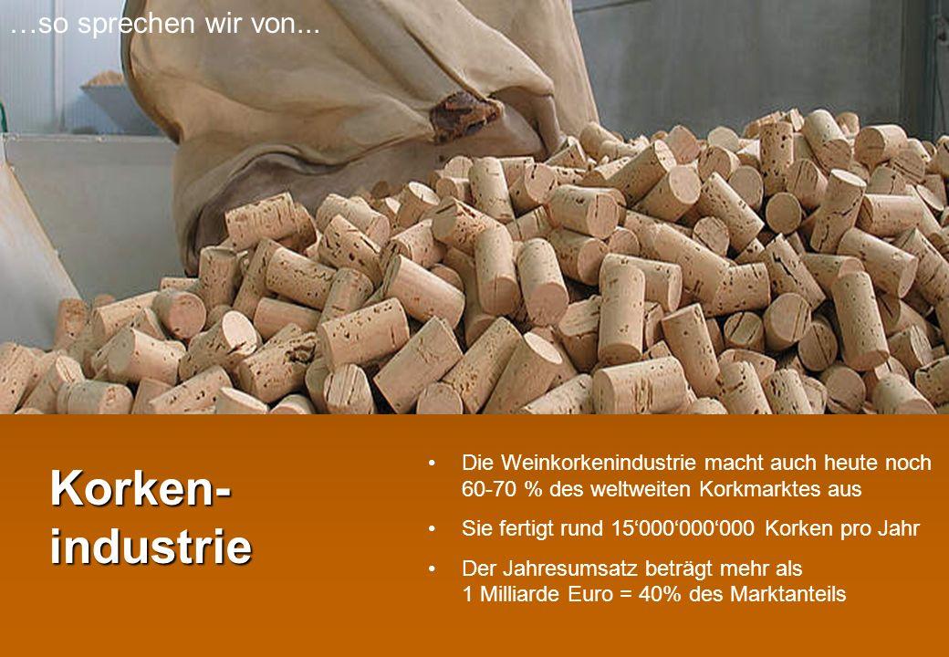 Korken- industrie …so sprechen wir von...