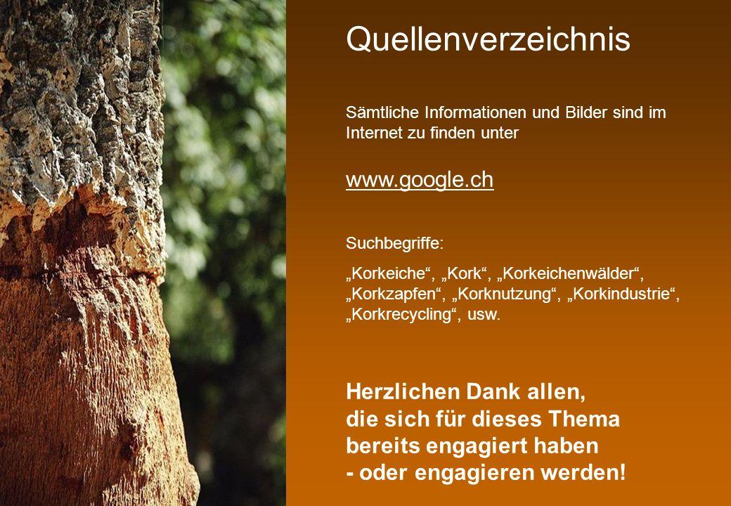 Quellenverzeichnis Suchbegriffe: