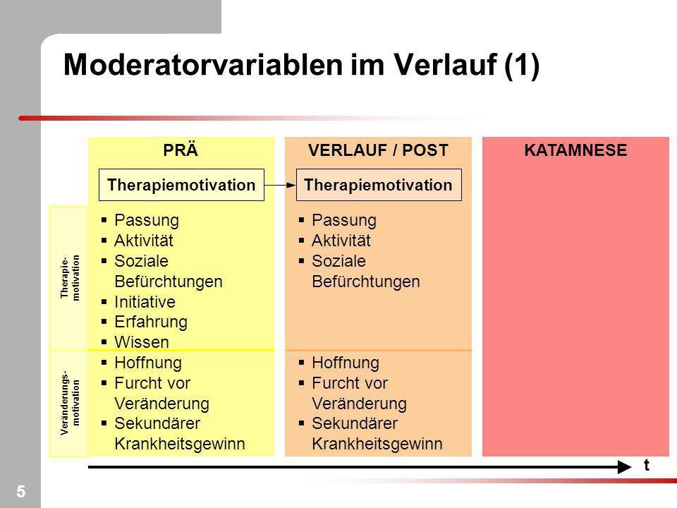 Moderatorvariablen im Verlauf (1)