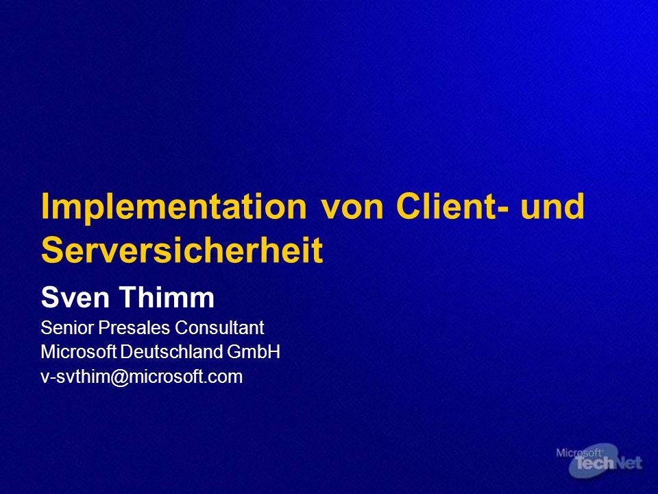 Implementation von Client- und Serversicherheit