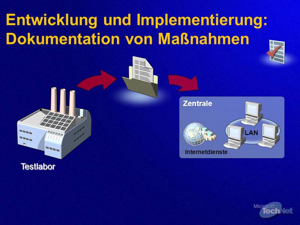 Entwicklung und Implementierung: Dokumentation von Maßnahmen
