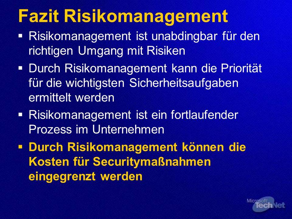 Fazit Risikomanagement