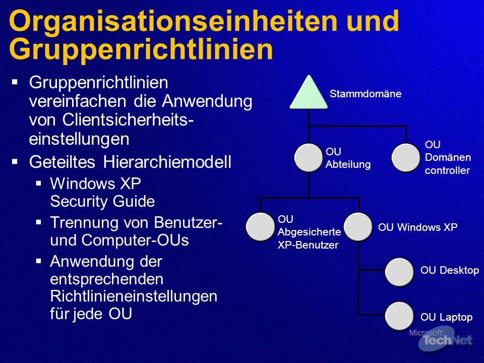 Organisationseinheiten und Gruppenrichtlinien