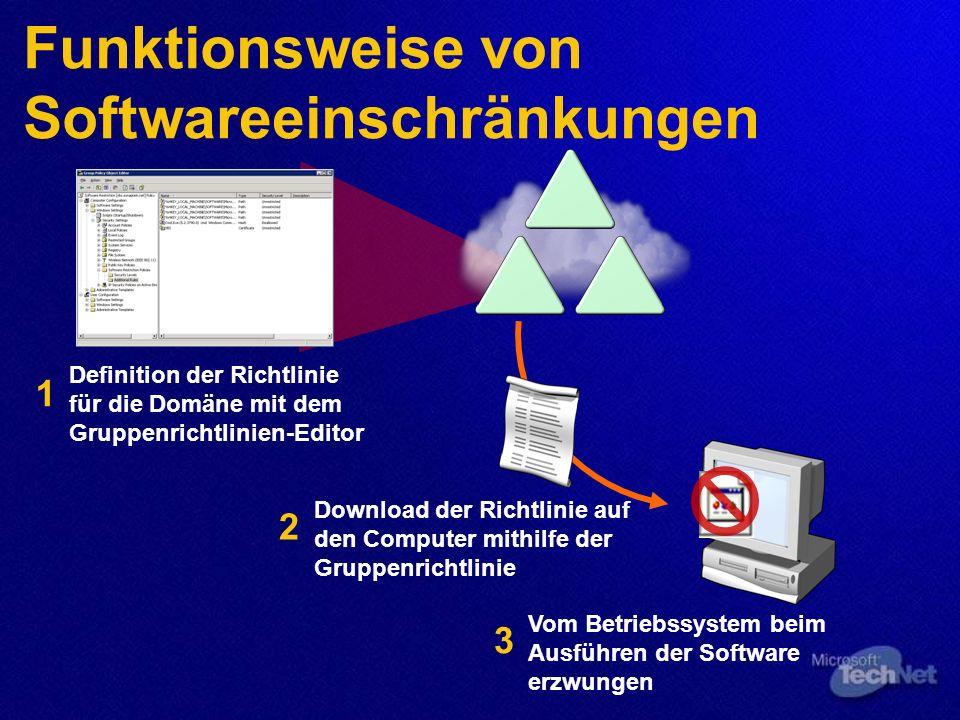 Funktionsweise von Softwareeinschränkungen