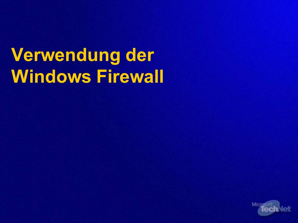 Verwendung der Windows Firewall